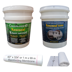 Rexoseal Roofing System Kit for Metal, Wood & Concrete Roofs