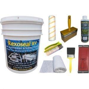 Rexoseal 4 Gal. RV Roof Restoration Kit