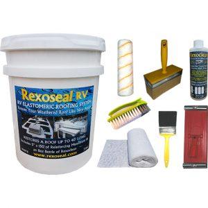 Rexoseal 5 Gal. RV Roof Restoration Kit